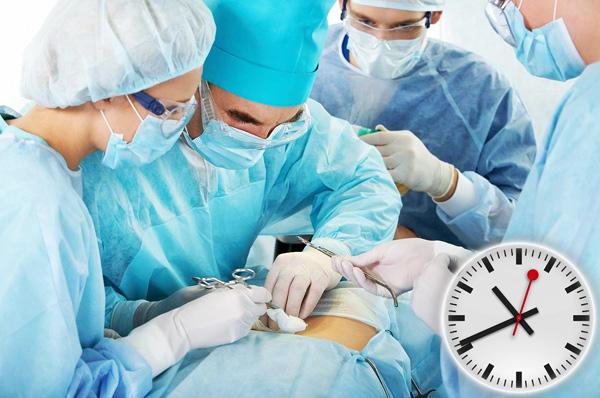 Время операции определяется приблизительно
