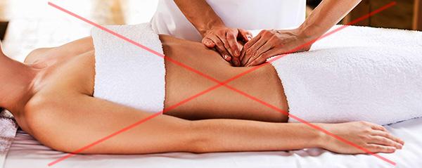 Висцеральный массаж нижней части живота не рекомендуется при миоме