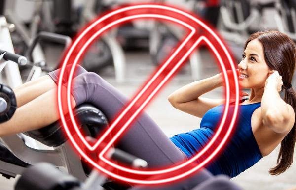 Запрещенные упражнения при новообразованиях в матке