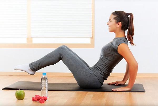 Упражнения для пресса способствуют кровообращению в органах малого таза