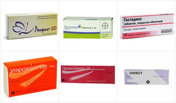 Применение препаратов с гестагенами при кисте