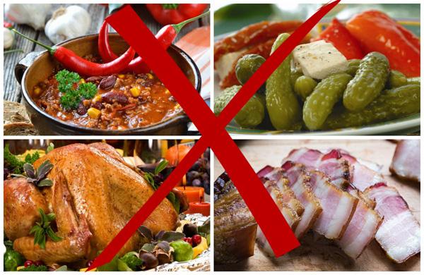 Запрет вредной еды при поликистозе