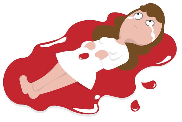 Кровотечение при кисте яичника
