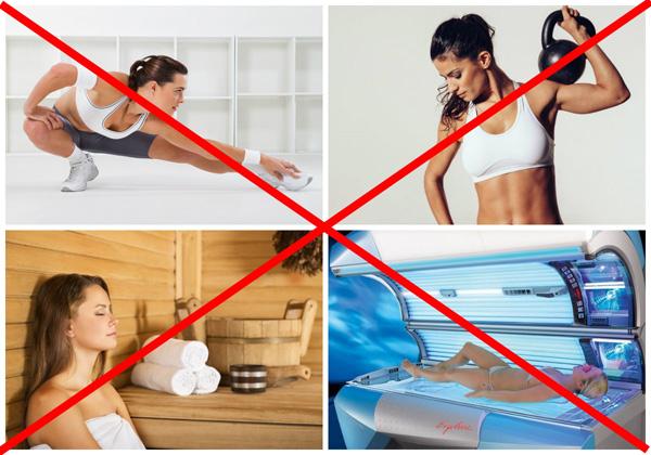 Запреты во время лечения кисты
