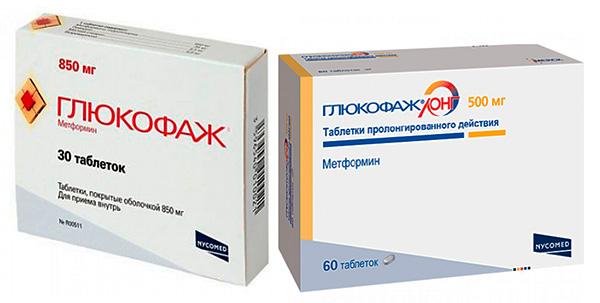 Глюкофаж (формы выпуска и дозировка)