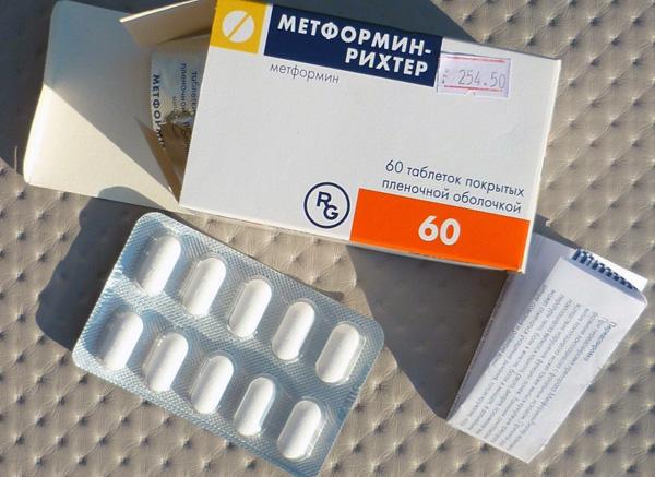 Курс приема Метформина - около 6 месяцев