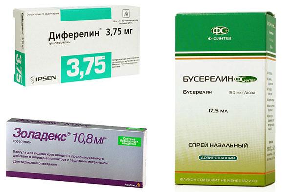 Препараты агонистов гонадотропин-рилизинг гормона
