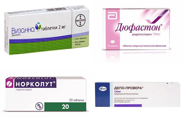 Препараты с гестагенами в лечении эндометриоза