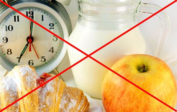 Запрет на употребление пищи перед гистероскопией
