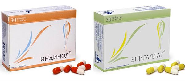 Индинол и Эпигаллат как вспомогательные препараты в лечении эндометриоза