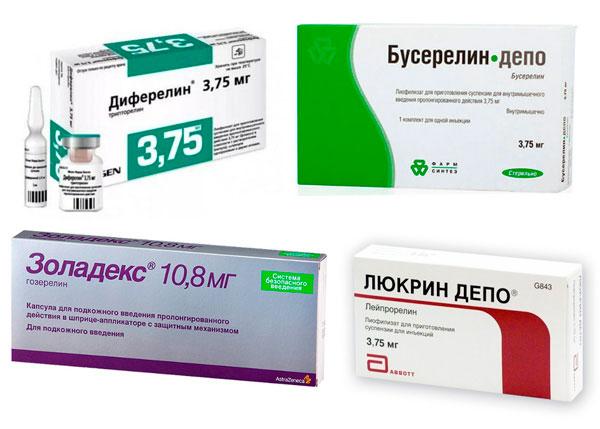 Препараты агонисты гонадотропных гормонов при миоме