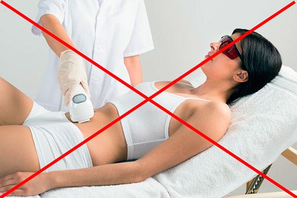 Запрет на лазерную физиотерапию при миоме