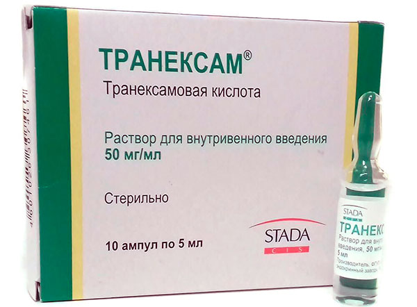 Транексамовая кислота при маточном кровотечении на фоне миомы