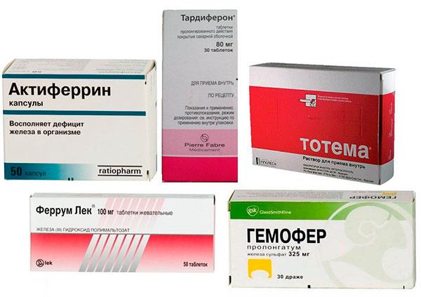 Лекарства, применяемые в лечении анемии